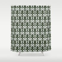 221b Shower Curtains featuring 221b Wallpaper by rogueleader