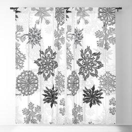 Snowflake Pattern (White) Blackout Curtain