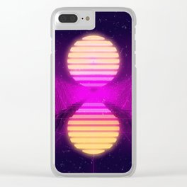 Retro Sunset Clear iPhone Case