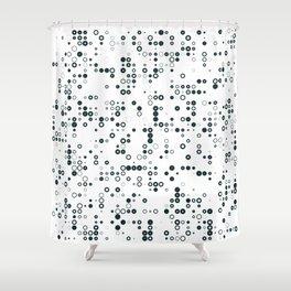 #128 binary Shower Curtain