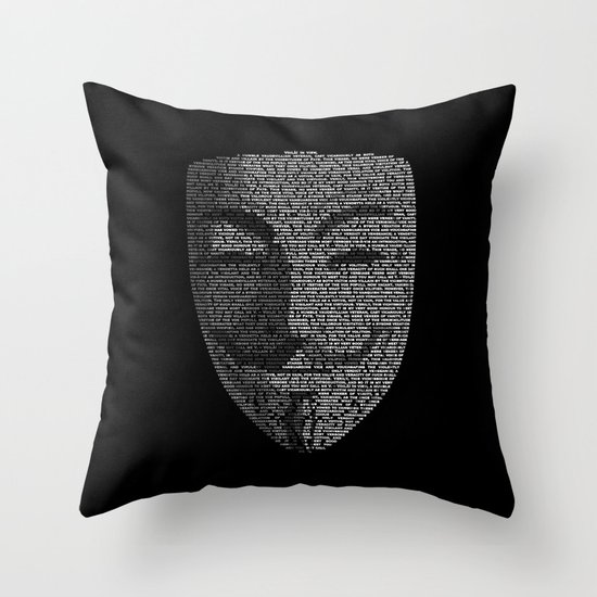 ...You May Call Me 'V' – So who's Anonymous? Throw Pillow