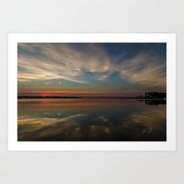 Colington, North Carolina reflection sunset Art Print