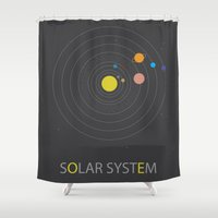solar system Shower Curtains featuring Solar System by Loaded Light Photography