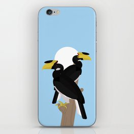 Malabar pied hornbills iPhone Skin
