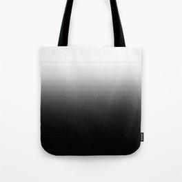 Black & White Ombre Gradient Tote Bag