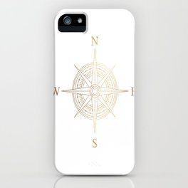Gold Compass iPhone Case