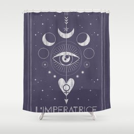L'Imperatrice or L'Empress Tarot Shower Curtain