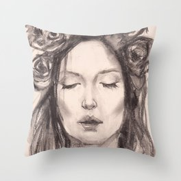 Actress Monica Bellucci - Editorial Throw Pillow