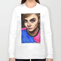 cara delevingne Long Sleeve T-shirts featuring Cara Delevingne:) by vooce & kat