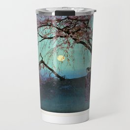 Hiroshi Yoshida Kumoi Cherry Trees Travel Mug