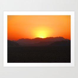Wadi Rum Sunset Art Print