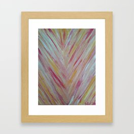 Feather Lines Framed Art Print