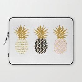 fun pineapple design gold Laptop Sleeve