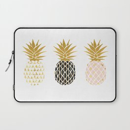 fun pineapple design gold Laptop Sleeve