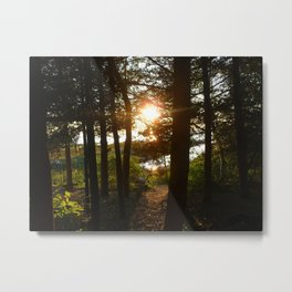 Sun on the Water Metal Print