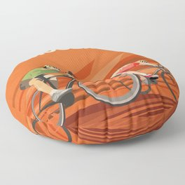 Milan San Remo cycling classic Floor Pillow