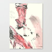 nudes Canvas Prints featuring nudes by Saffron Lily