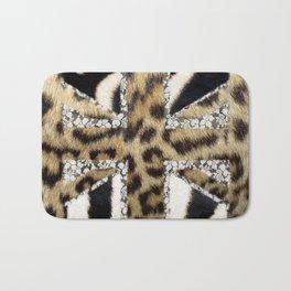 Wild | Hipster leopard Print Zebra UK Union Jack Flag  Bath Mat