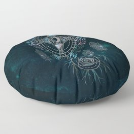Mystical Alchemy Tree Ornament - marble and silver Floor Pillow