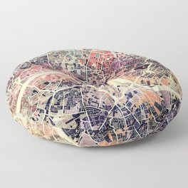 London Mosaic Map #1 Floor Pillow