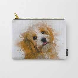 Maltese Dog Art Carry-All Pouch