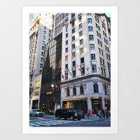 Colors. Fifth Avenue, New York. Art Print