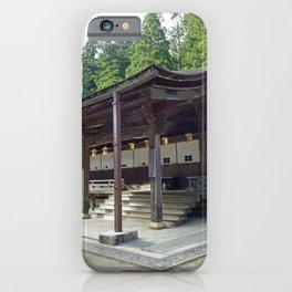 wooden shrine on Mount Koya iPhone Case