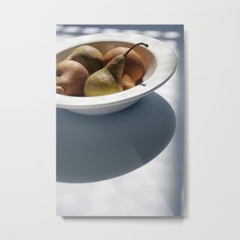 Organic Pears Metal Print