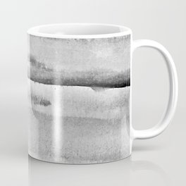 Foggy view abstract landscape paintin - Grayscale minimal design Coffee Mug