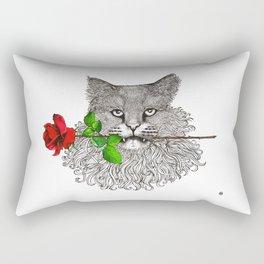 Valentine's Cat Rectangular Pillow
