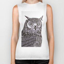 Black&White Owl Biker Tank