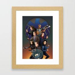 SHIELD Team In Action Framed Art Print
