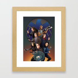 SHIELD Team In Action Framed Art Print