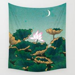 Minhwa: Lotus Pond at Night C Type Wall Tapestry