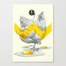 Chicken in the kitchen Canvas Print
