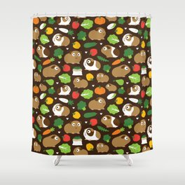 Guinea Pigs And Their Treats Shower Curtain