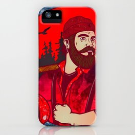 Hipster Lumberjack Red iPhone Case