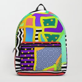 ABSTRACT+LINES+DOTS WITH A WIGGLE Backpack