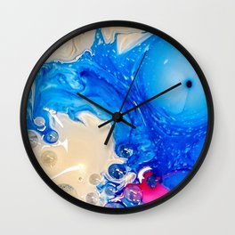 Blue Bubblicious Wall Clock