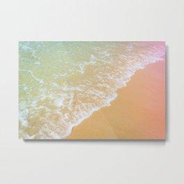 Wave in Pastel Metal Print