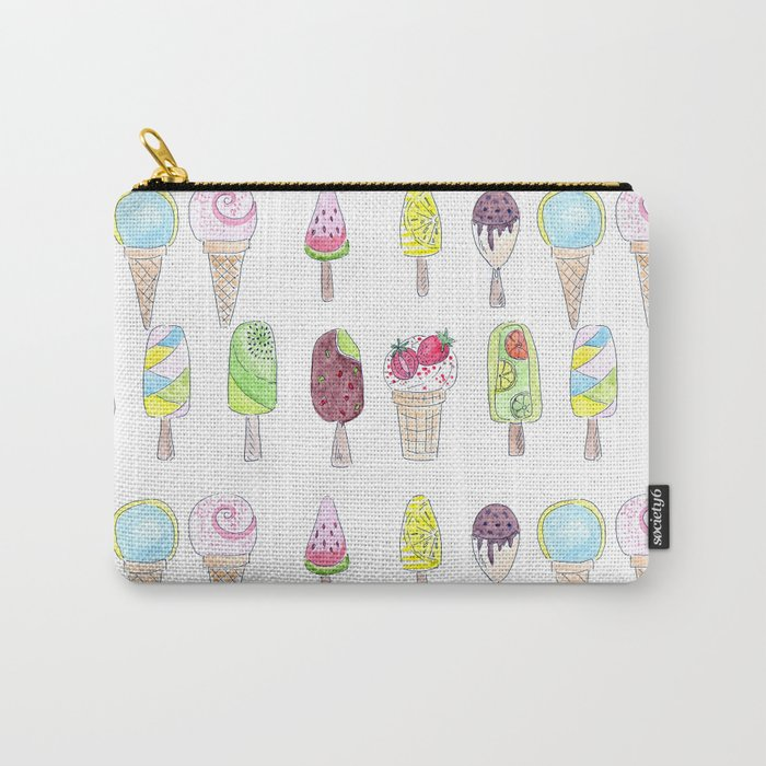 Watercolor. Ice cream . i Carry-All Pouch
