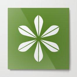 Olive Green Lotus Leaf Cathrineholm Metal Print