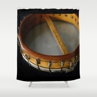 banjo Shower Curtains featuring SAVOY TENOR BANJO 1928   by JOtwell Perspectives