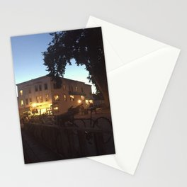 bikes in the night Stationery Cards