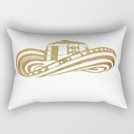 Colombian Sombrero Vueltiao in Gold Leaf Style Rectangular Pillow