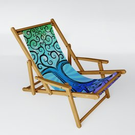 Tree of Life - Cool Blue Sling Chair