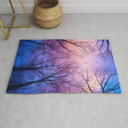 A New Day Will Dawn  (Day Tree Silhouettes) Rug
