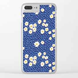 Daisies In The Rain Clear iPhone Case