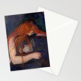Edvard Munch - Love and Pain (The Vampire) Stationery Cards