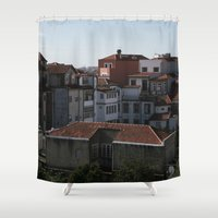 portugal Shower Curtains featuring Porto Portugal  by Sanchez Grande